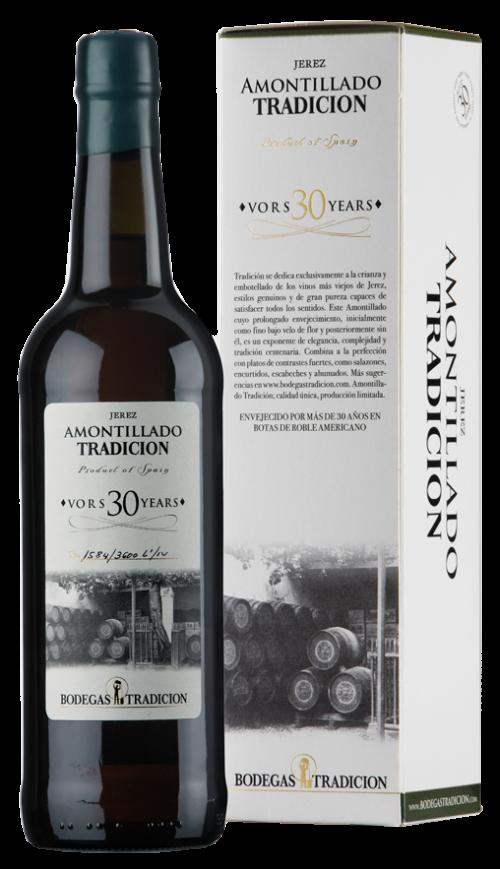 Botella Vino Amontillado de Bodegas Tradición