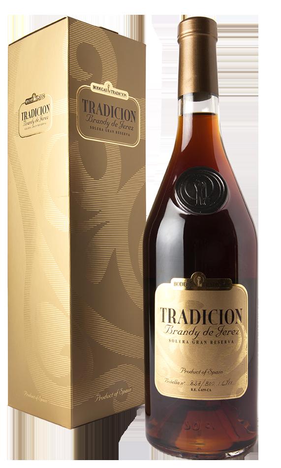 Botella Brandy Tradición Solera Gran Reserva de Bodegas Tradición
