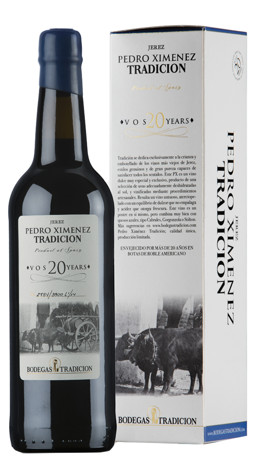 Botella Vino Pedro Ximenez de Bodegas Tradicion